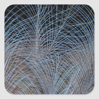 Grey Feather Abstract Square Sticker