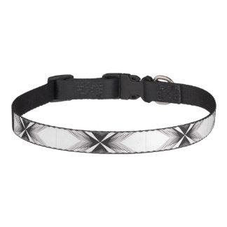 Grey Feathered Star Dog Collar