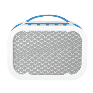 Grey Fish Scales Lunchboxes