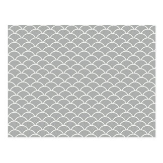 Grey Fish Scales Postcard