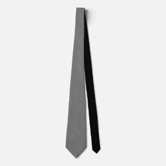 Grey Floral Motif on Black Tie by DelynnAddams