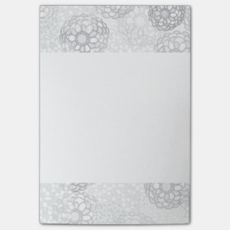 Grey Flower Burst Design Post-it® Notes