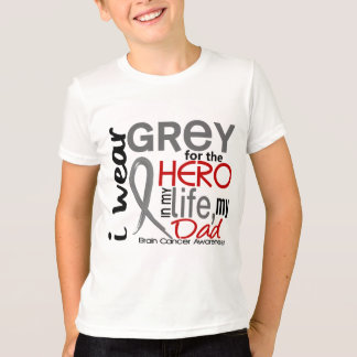 Grey For My Hero 2 Dad Brain Cancer Tees