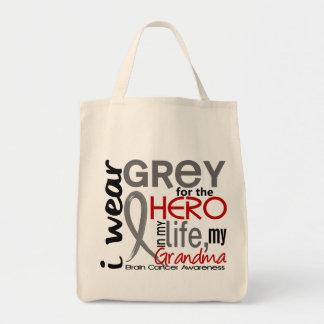 Grey For My Hero 2 Grandma Brain Cancer Tote Bag