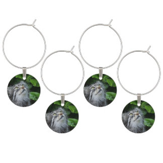 Grey Fuzzy Kitty Cat Wine Charm