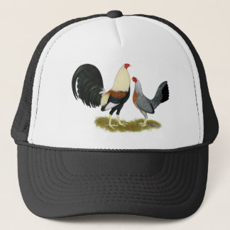 Grey Game Fowl Pair Trucker Hat