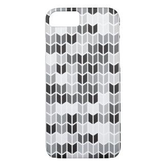 Grey Geometric Pattern iPhone 7 Case