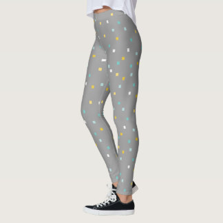 Grey geometric pattern Legging