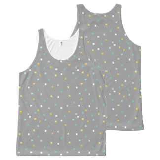 Grey geometric pattern Tank top