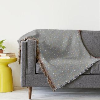 Grey geometric pattern Throw blanket