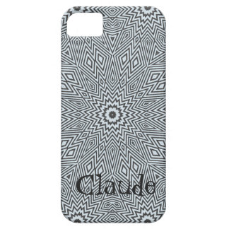 Grey Geometrical Fractal iPhone 5 Covers
