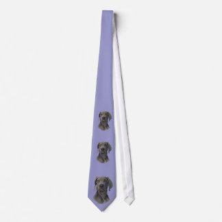 Grey Ghost Weimaraner Necktie