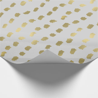 Grey Gold Glam Abstract Wrapping Paper
