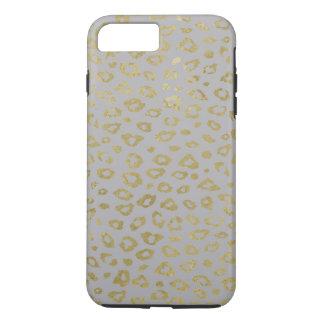 Grey Gold Leopard Print iPhone 8 Plus/7 Plus Case