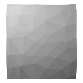 Grey Gradient Geometric Mesh Bandana