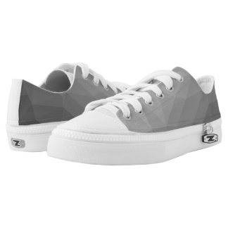 Grey Gradient Geometric Mesh Low Tops