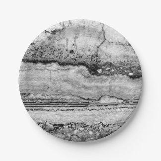 grey granite paper plate