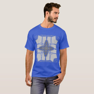 Grey Graphic on Deep Royal Blue Plus Size up 6x T-Shirt