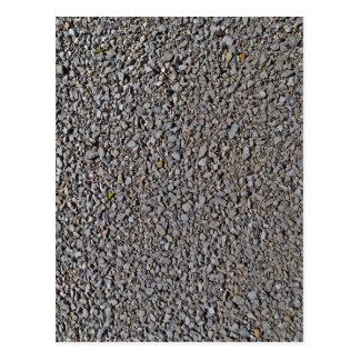 Grey Gravel Pattern Rocks Postcard