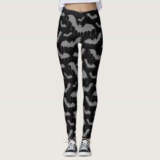 Grey Gray Bats Moth Nu Goth Gothic Alternative Leggings