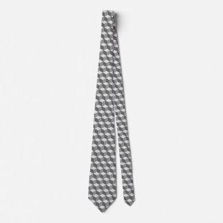Grey/gray cube tie