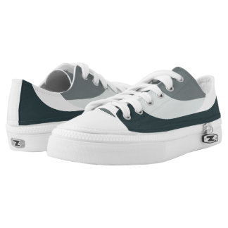 Grey/Green Casual Shoes - Low Top Sneakers