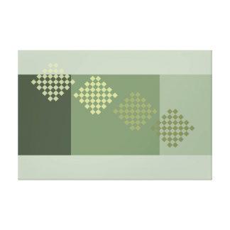 Grey Green Olive Modern Minimalism Art Decor Print Gallery Wrapped Canvas