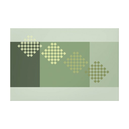 Grey Green Olive Modern Minimalism Art Decor Print Gallery Wrapped Canvas