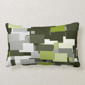 Grey Green Urban Camouflage Lumbar Cushion