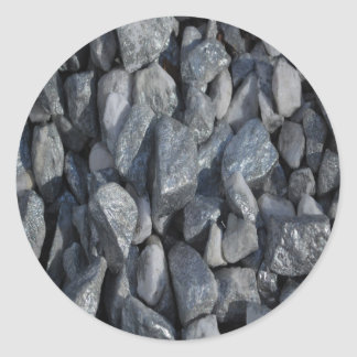 Grey-Grey stones by Khoncepts Classic Round Sticker