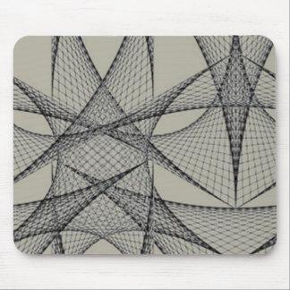 Grey grid Mousepad
