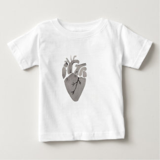 Grey Heart Baby T-Shirt