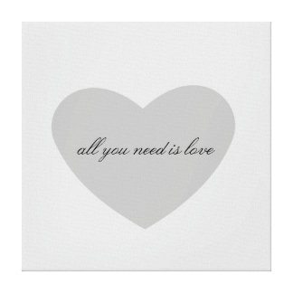 Grey Heart Canvas Print