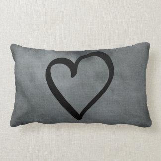 Grey Heart Lumbar Cushion