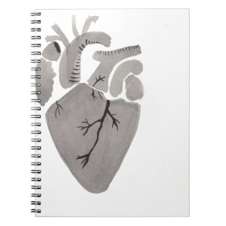 Grey Heart Notebook