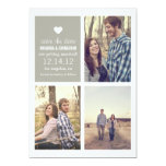 Grey heart Save the date Photo Announcements 13 Cm X 18 Cm Invitation Card