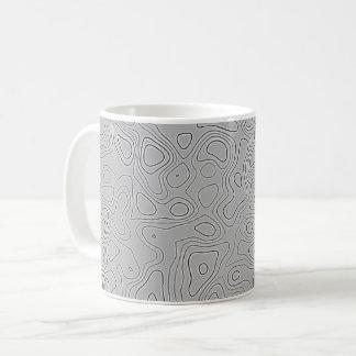 Grey Height Map Coffee Mug