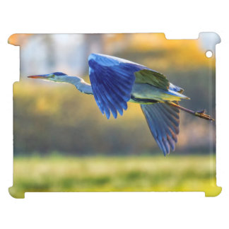 Grey heron, ardea cinerea iPad case