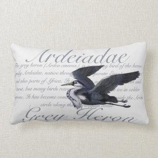 Grey Heron Lumbar Pillow