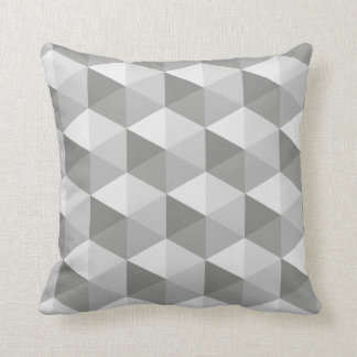 Grey Hexagons Cushion