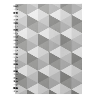 Grey Hexagons Notebook
