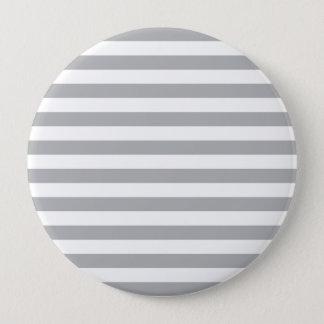 Grey Horizontal Stripes 10 Cm Round Badge