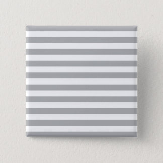 Grey Horizontal Stripes 15 Cm Square Badge
