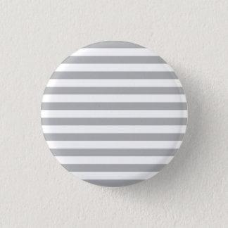 Grey Horizontal Stripes 3 Cm Round Badge