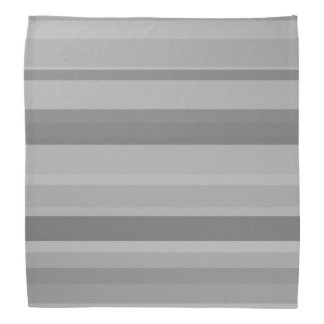 Grey horizontal stripes bandana
