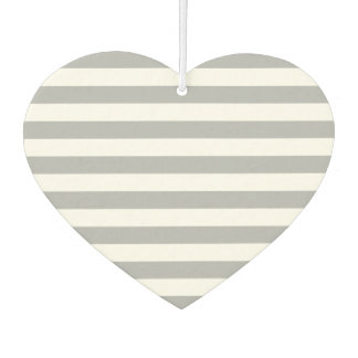 Grey Horizontal Stripes Car Air Freshener