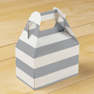 Grey Horizontal Stripes Favour Box