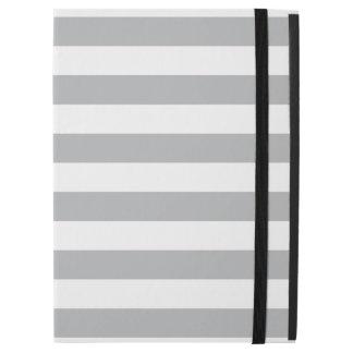 "Grey Horizontal Stripes iPad Pro 12.9"" Case"