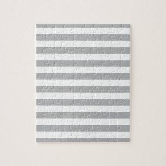 Grey Horizontal Stripes Jigsaw Puzzle