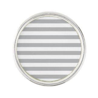 Grey Horizontal Stripes Lapel Pin